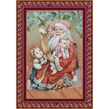 Checking It Twice Christmas Hand-Woven Tapestry