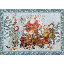 Forest Friends Christmas Hand-Woven Tapestry
