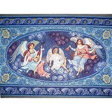 Guardian Angels Christmas Hand-Woven Tapestry