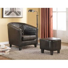 Isabella Barrel Chair and Ottoman by Container