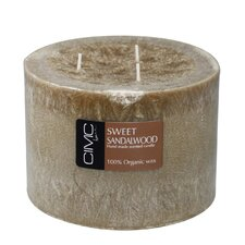 Sweet Sandalwood Pillar Candle