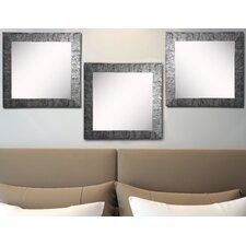 Ava Safari Silver Wall Mirror (Set of 3)