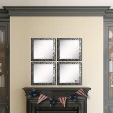 Ava Safari Silver Wall Mirror (Set of 4)