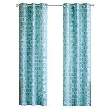 Viva Geometric Grommet Curtain Panels (Set of 2)