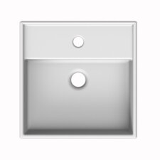 """Teorema Ceramic 17"""" Wall Mounted Sink with Overflow"""