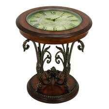Casa Cortes Round Clock Coffee and End Table by EC World Imports
