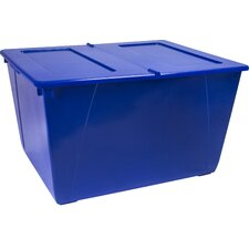 Storage Tote with Folding Lid