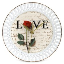 """Love Letters 8"""" Wall Clock"""