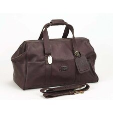 """Luggage Vintage 15"""" Leather Carry-On Duffel"""