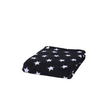 Star Fleece Pram Blanket Black