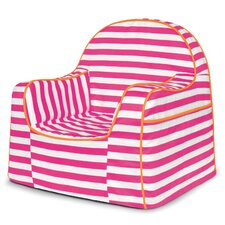 Little Reader Pink Stripes Personalized Kids Novelty Chair