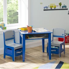 Jack and Jill Kids 3 Piece Table and Chair Set