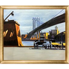 Manhattan Bridge, 1926 by Edward Hopper Framed Painting Print