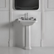 Minimal Ceramic Rectangular wall mounted Bathroom Sink with Overflow by WS Bath Collections