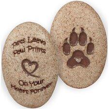 Dog Paw Print Decorative Stone (Set of 4)