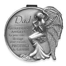 Dad Guardian Angel Decorative Visor Clip (Set of 4)