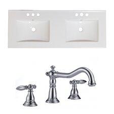 Xena Ceramic 59 Double Bathroom Vanity Top by Jade Bath