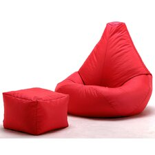 2 Piece Bean Bag Lounger Set