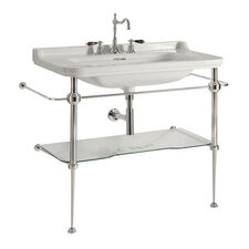"Waldorf Ceramic 31.5"" Console Sink with Overflow"