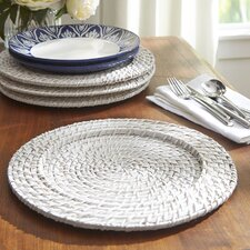 Round Rattan Chargers (Set of 4)