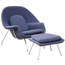 Woom Louge Chair and Ottoman by Fine Mod Imports