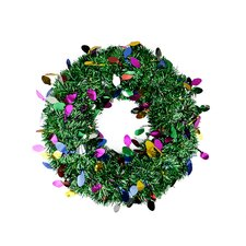 Festive Artificial Christmas Tinsel Wreath