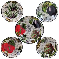 Botanical Veggies Pasta Bowl Set of 5
