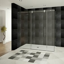 Ultra-D 72 x 34.5 x 79 Sliding High Glass Shower Enclosure with Double Front Panel by LessCare