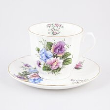 Flowers of the Month April 30cm Bone China Cup and Saucer