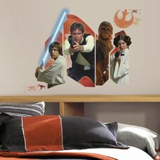 Star Wars Ep VII Classic Burst P and S Wall Decal