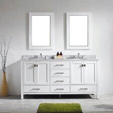Gela 72 Double Vanity Set with Mirror by Vinnova