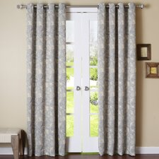 Stitch Paisley Blackout Thermal Grommet Curtain Panels (Set of 2)