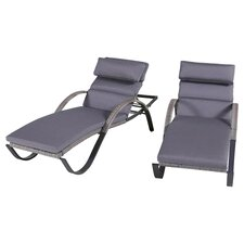Alfonso Outdoor Chaise Lounge Cushion Set (Set of 2)