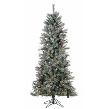 7' Frosted Berry Pine Christmas Tree with 250 Clear Lights