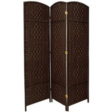 "Boynton 71"" x 58.5"" Tall Diamond Weave Fiber 3 Panel Room Divider"