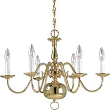 Americana 6-Light Candle-Style Chandelier