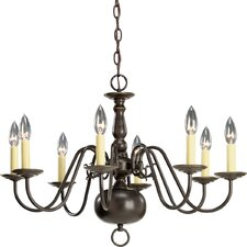 Americana 8-Light Candle-Style Chandelier