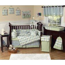 Argyle Blue 9 Piece Crib Bedding Set by Sweet Jojo Designs