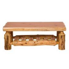 Traditional Cedar Log Coffee Table by Fireside Lodge