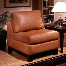 Espasio Leather Slipper Chair by Omnia Leather