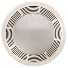 Round 100 CFM Exhaust Bathroom Fan with Light and Night Light