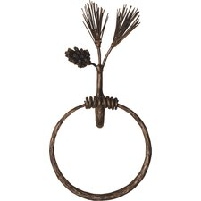 Pine Wall Mounted Towel Ring