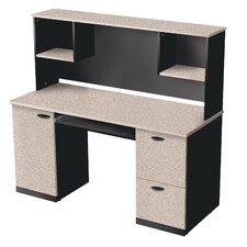 Hampton Computer Desk with Hutch