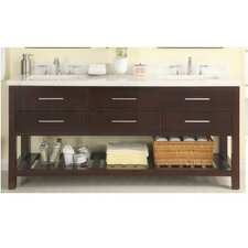 Priva 72 Open Double Bathroom Vanity Base by Empire Industries