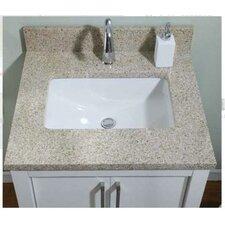 Euro Granite Single Bathroom Vanity Top