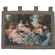 Classic French Rococo Woven Tapestry