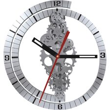 """Oversized 24"""" Moving Gear Wall Clock"""