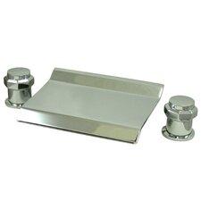 "Double Handle Deck Mount 20"" Water Fall Roman Tub Faucet Trim"