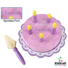Personalized Birthday Cake Set