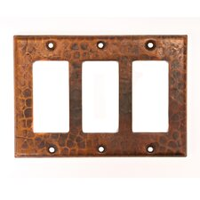 Copper Triple Ground Fault / Rocker GFI Switchplate Cover
